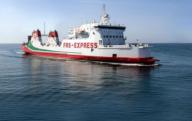 Shows the Al Andalus Express from FRS Iberia at sea.